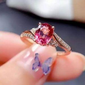 🎀Rose Gold Tourmaline Ring